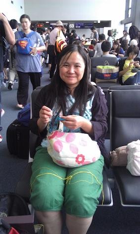 機場的手縫時間