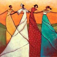 女性舞圈圈